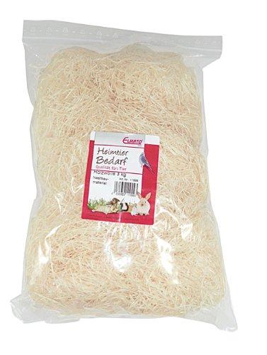 Elmato 11999 Nestbaumaterial Holzwolle 900gr