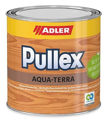 ADLER Pullex Aqua-Terra - Ökologisches Holzöl Außen & Innen - Universell anwendbar für starken Wasserschutz & lange Haltbarkeit - Auf Wasserbasis & nachwachsender Rohstoffe - 750ml Farbe Eiche