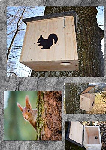 Sauggrundel Eichhörnchenkobel Eichhörnchenhaus XL mit 2 Eingängen