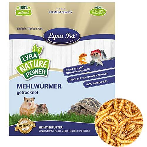 Lyra Pet® 1 L (Liter) Mehlwürmer getrocknet Nager Fische Igel im Beutel