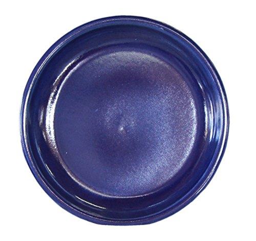 Hentschke Keramik Untersetzer für Blumentopf/Pflanztopf frostsicher Ø 23 x 4,5 cm, Stellfläche 18 cm, 099.023.64 Effekt blauMade in Germany